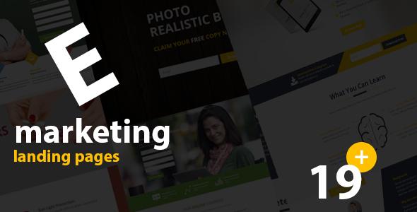 E- Marketing HTML Landing Page Templates - Marketing Corporate