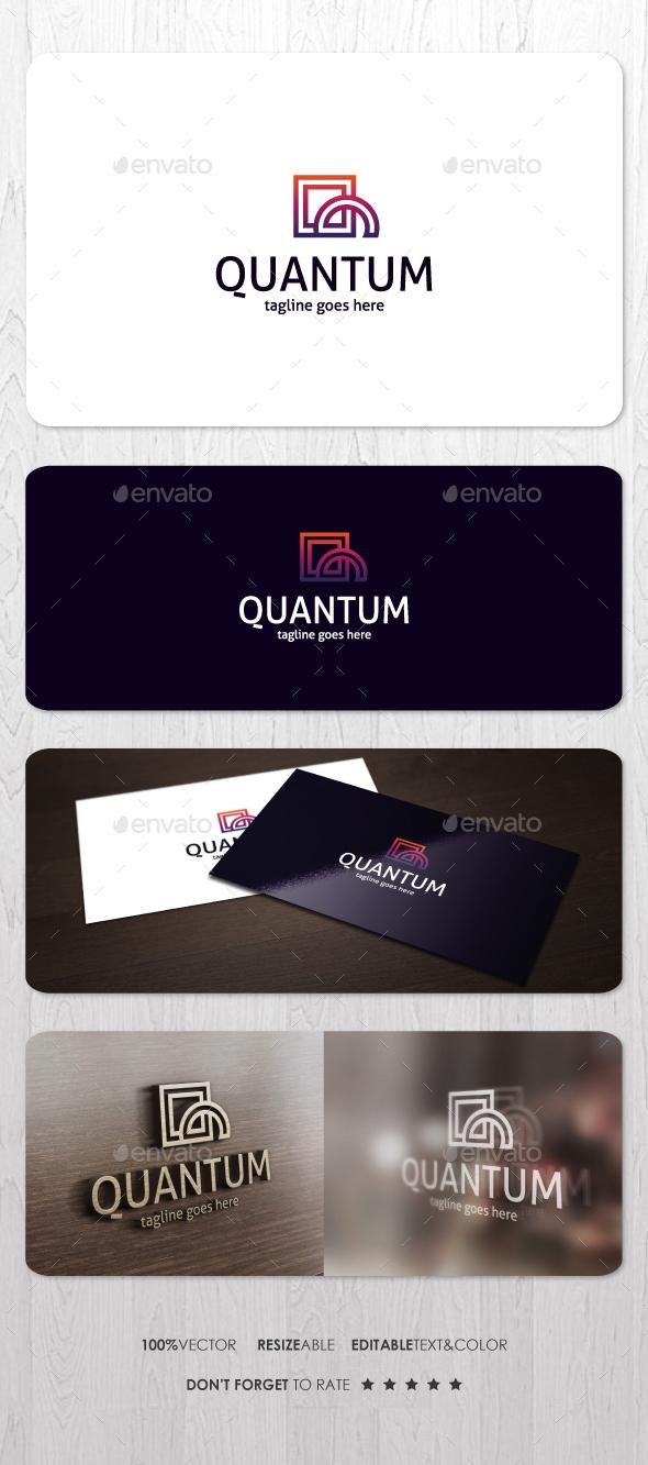 Quantum Logo - Vector Abstract