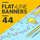 Set of Modern Flat Line Banners - GraphicRiver Item for Sale
