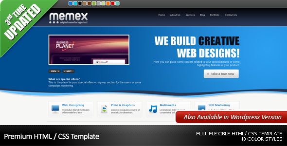 Memex Business + Portfolio + Blog Template