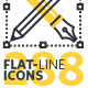 Set of Flat Line Icons - GraphicRiver Item for Sale