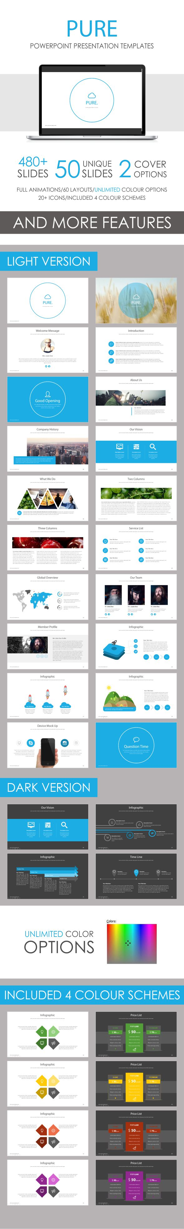 Pure PowerPoint Template - Business PowerPoint Templates