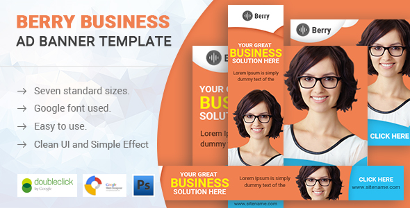 Berry | Business HTML 5 Animated Google Banner - CodeCanyon Item for Sale