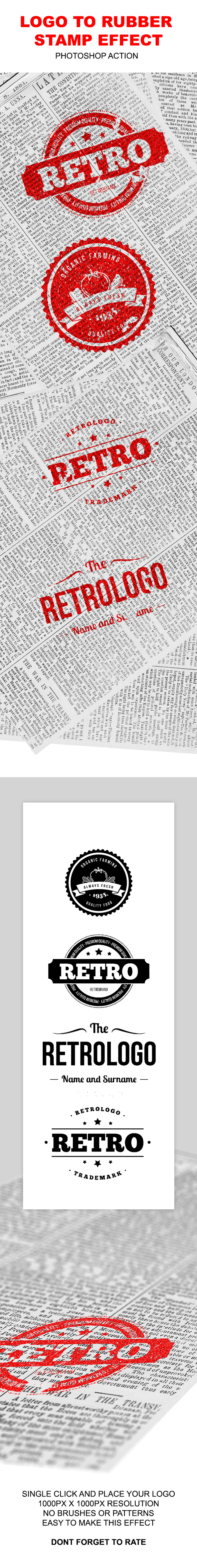 Logo to Rubber Stamp - Actions Photoshop