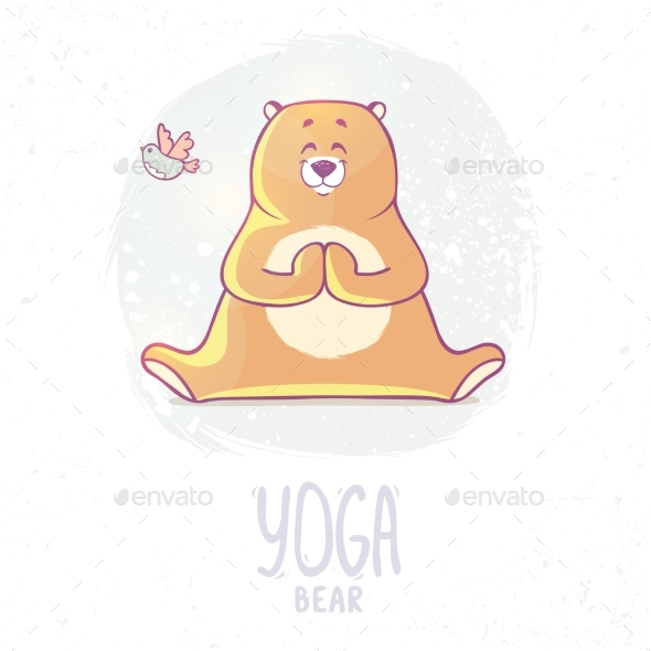 Color Yoga Bear - Animals Characters