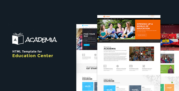 Academia – Education Bootstrap Template