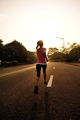 Sporty fitness woman running on sunrise trail - PhotoDune Item for Sale
