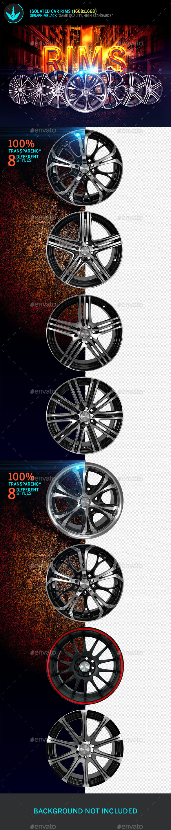 Isolated Car Rims - Isolated Objects