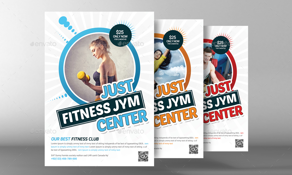2 Fitness Flyer Template By Graphicforestnet | Graphicriver