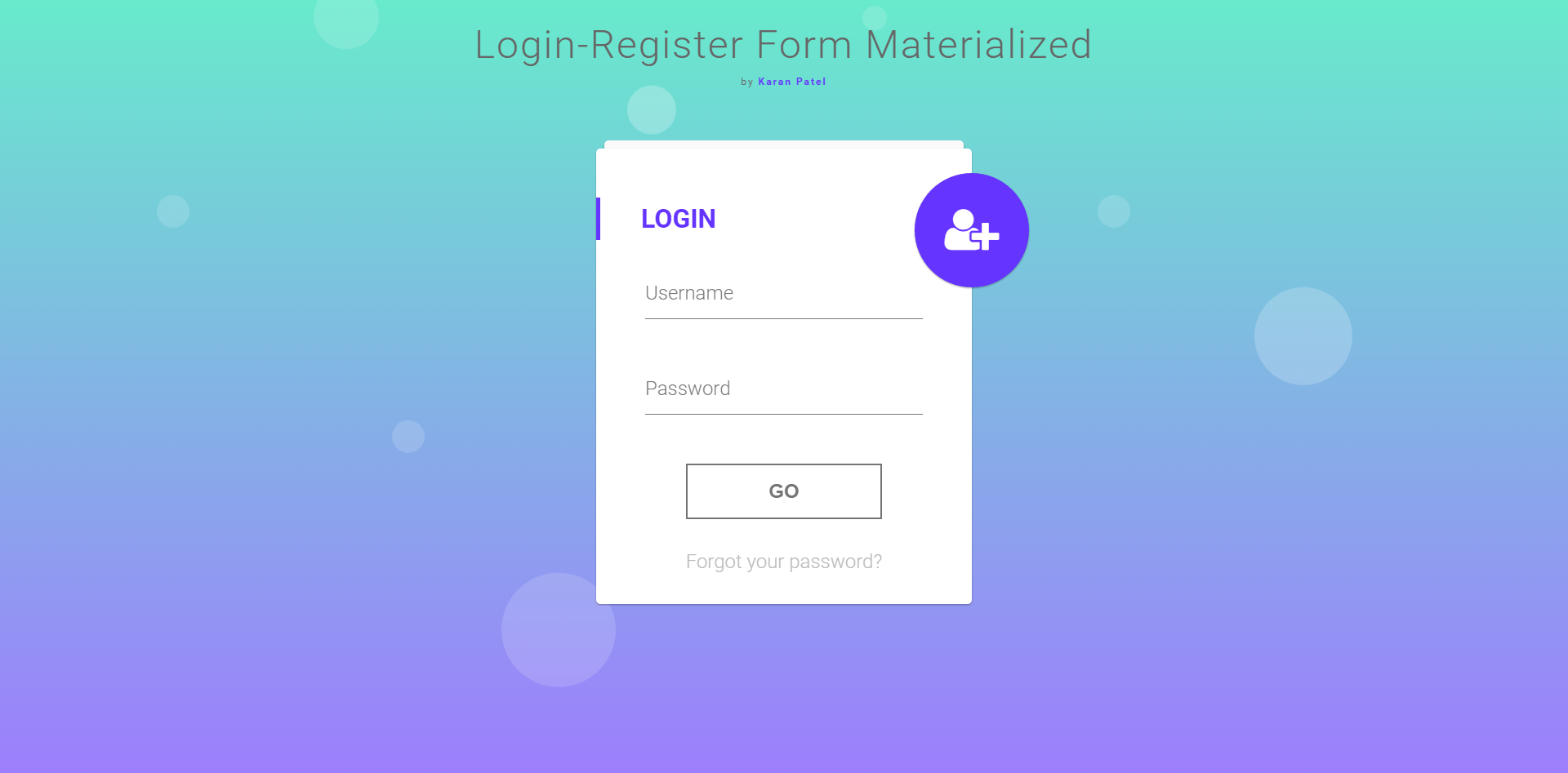 Login & Registration Form in MVC - Materialize Design by ...