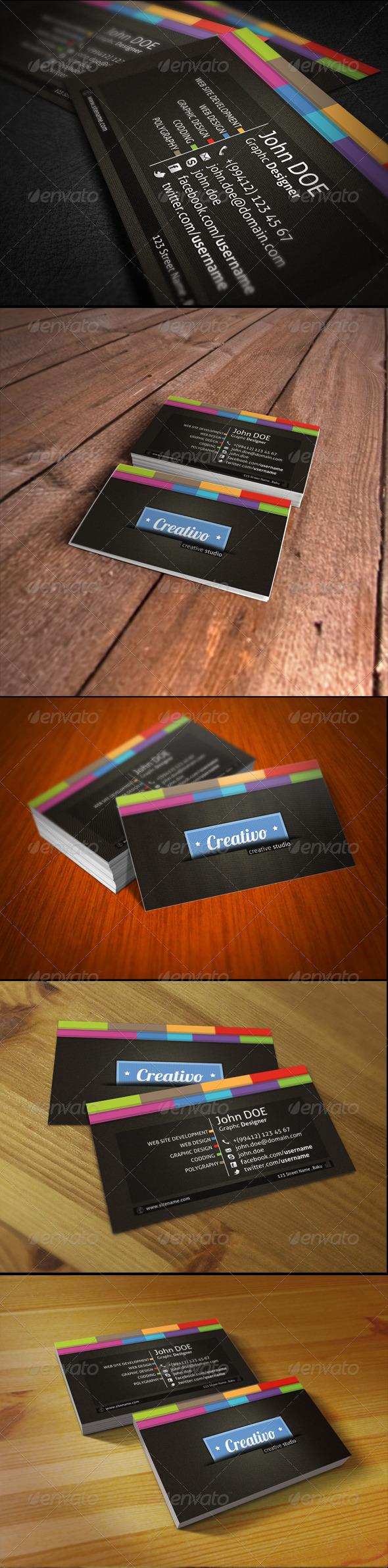 Creativo Business Card - Creative Business Cards