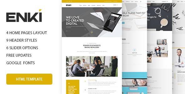 Enki multipurpose HTML5 template - Corporate Site Templates