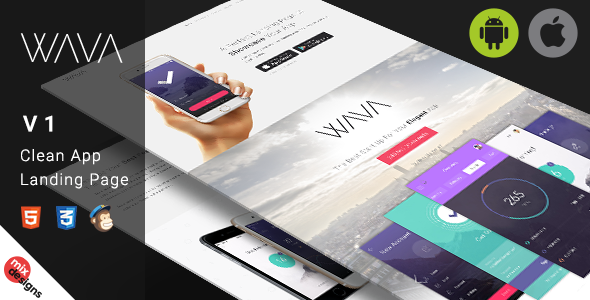 Wava App Landing Page - Apps Technology