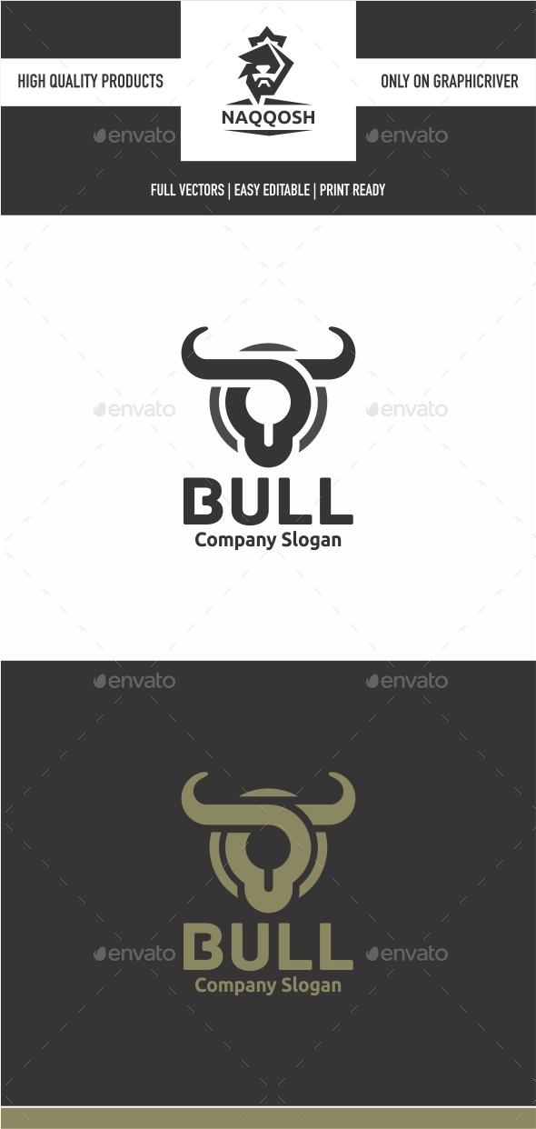 Bull - Animals Logo Templates