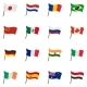 Flag Icons Set, Cartoon Style - GraphicRiver Item for Sale
