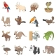 Animal Icons Set, Cartoon Style - GraphicRiver Item for Sale
