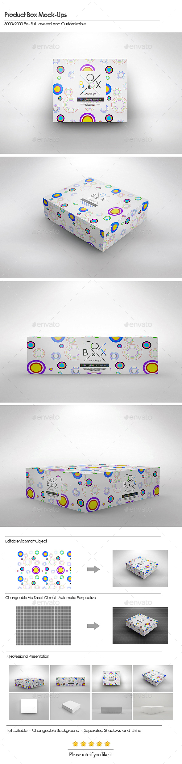 Product Box Mock-Ups - Packaging Product Mock-Ups
