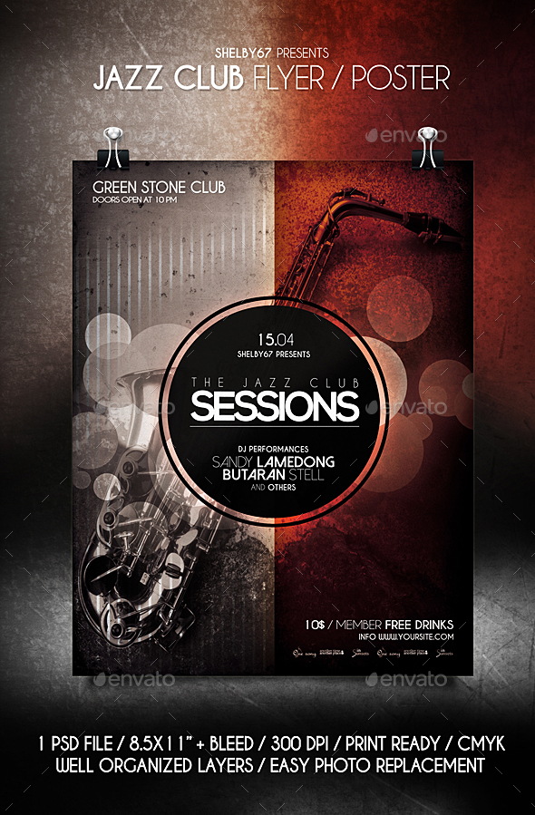 Jazz Club Flyer / Poster - Events Flyers