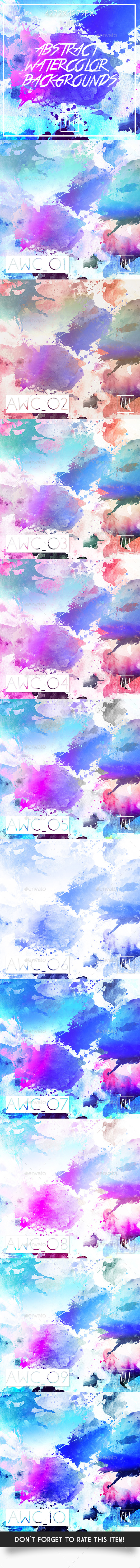 Abstract Watercolor Backgrounds - Abstract Backgrounds