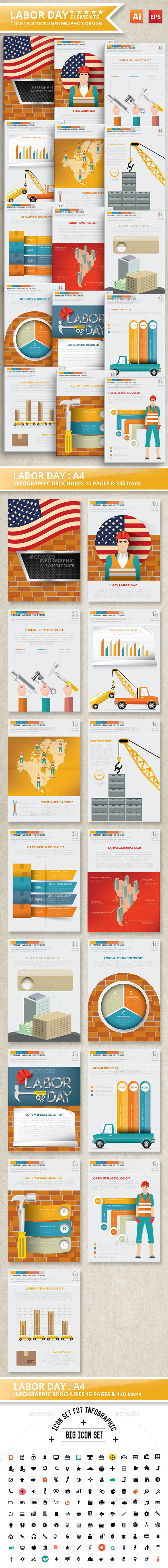 Labor Day Infographics Design - Infographics