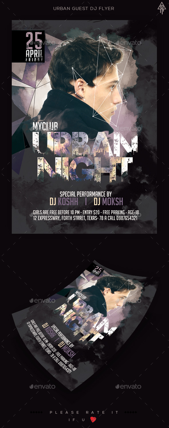 Urban Guest Dj Flyer - Clubs & Parties Events