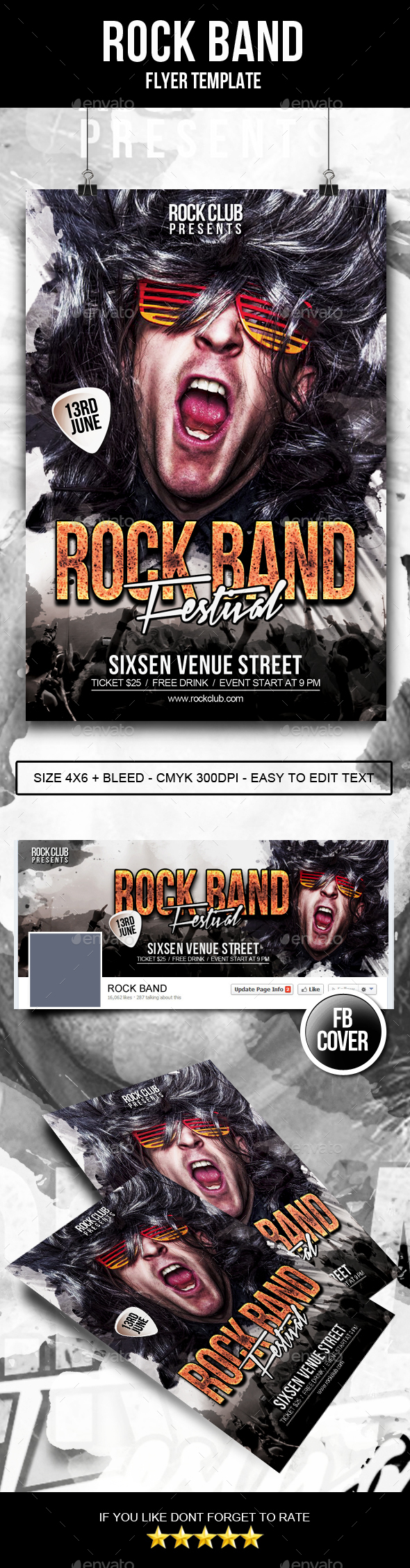 Rock Band Flyer - Clubs & Parties Events