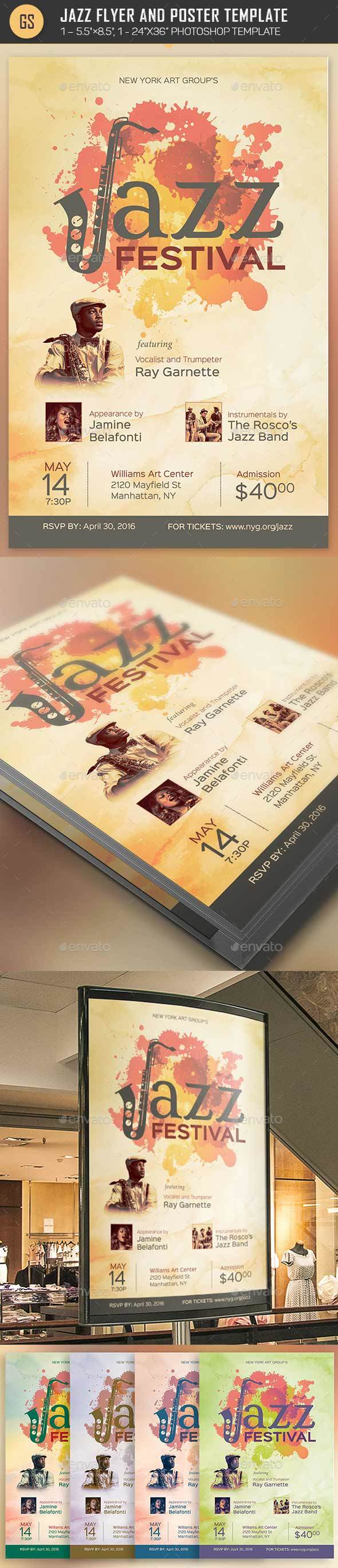 Jazz Flyer Poster Template - Events Flyers