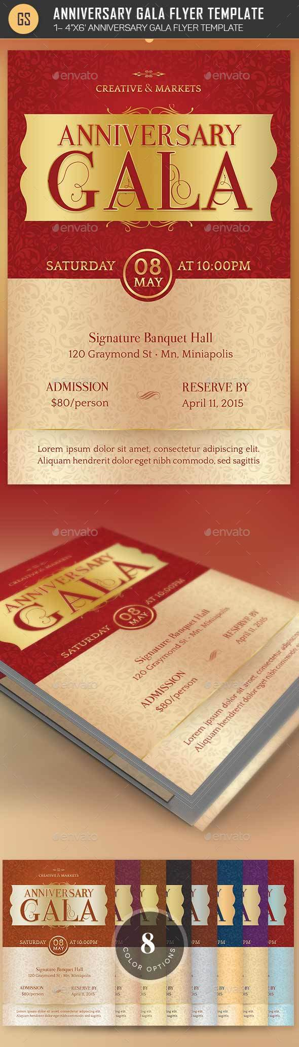 Anniversary Gala Flyer Template - Church Flyers