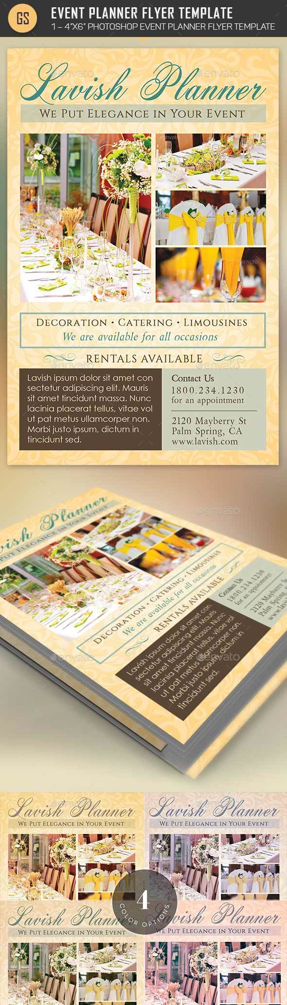 event planner flyer template by godserv2 graphicriver