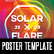 Solar x Flare Poster Template - GraphicRiver Item for Sale