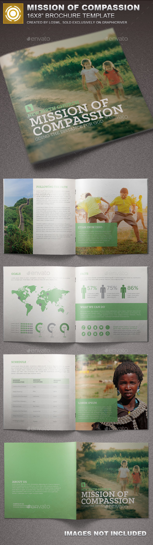 Mission of Compassion Church Brochure - Informational Brochures