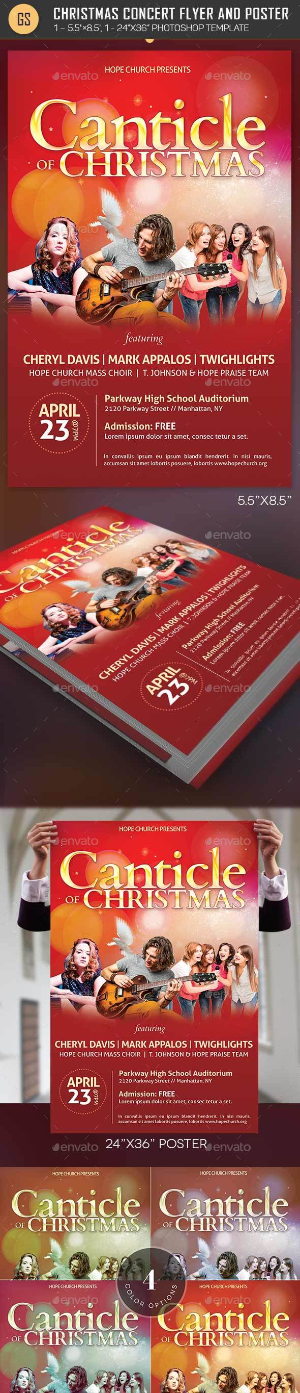 Christmas Concert Flyer Poster Template - Holidays Events