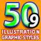 50 Illustrator Graphic Styles Bundle Vol.9 - GraphicRiver Item for Sale