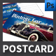 Vintage Cars Event Postcard Template - GraphicRiver Item for Sale