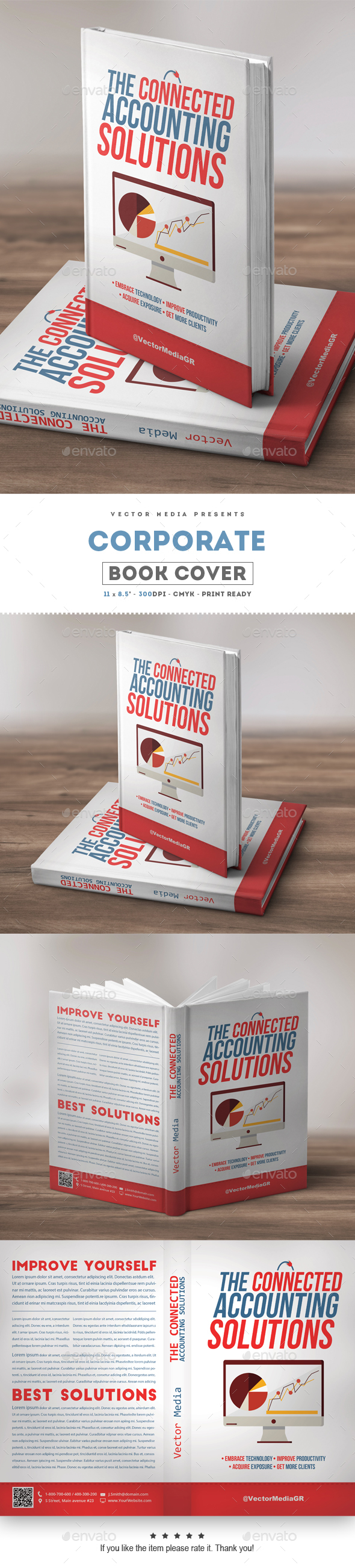 Corporate - Book Cover - Miscellaneous Print Templates