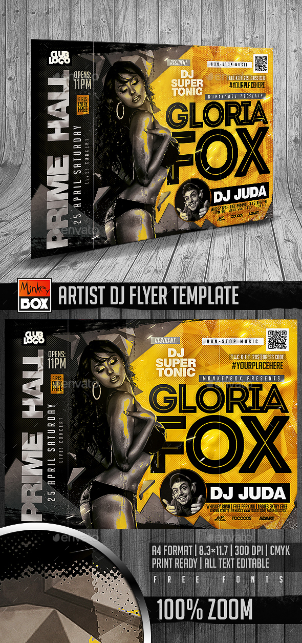 Artist Dj Flyer Template - Clubs & Parties Events
