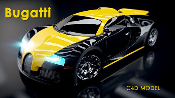 3D Bugatti Veyron Car - 3DOcean Item for Sale