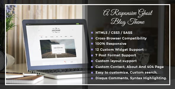 Josephine - A Responsive Ghost Blog Theme - Ghost Themes Blogging