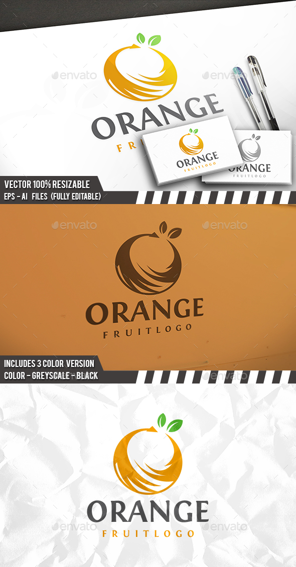 Fresh Fruit Logo - Nature Logo Templates