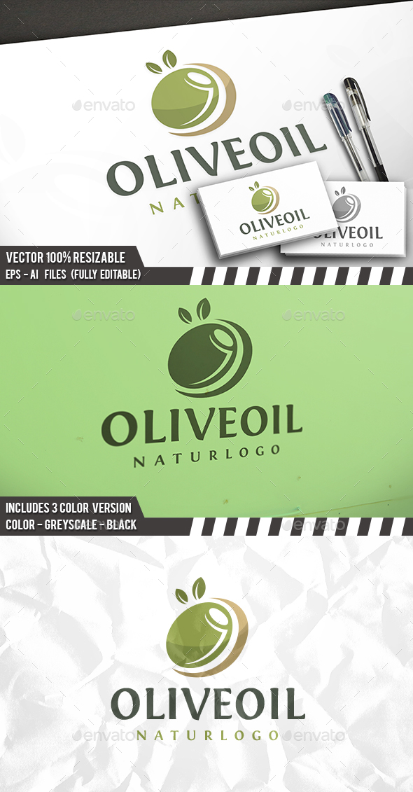 Olive Logo - Nature Logo Templates