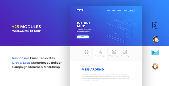 MRP - Responsive Email Template - Email Templates Marketing