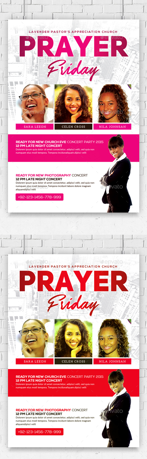 Women of Prayer Church Flyer Template  - Church Flyers