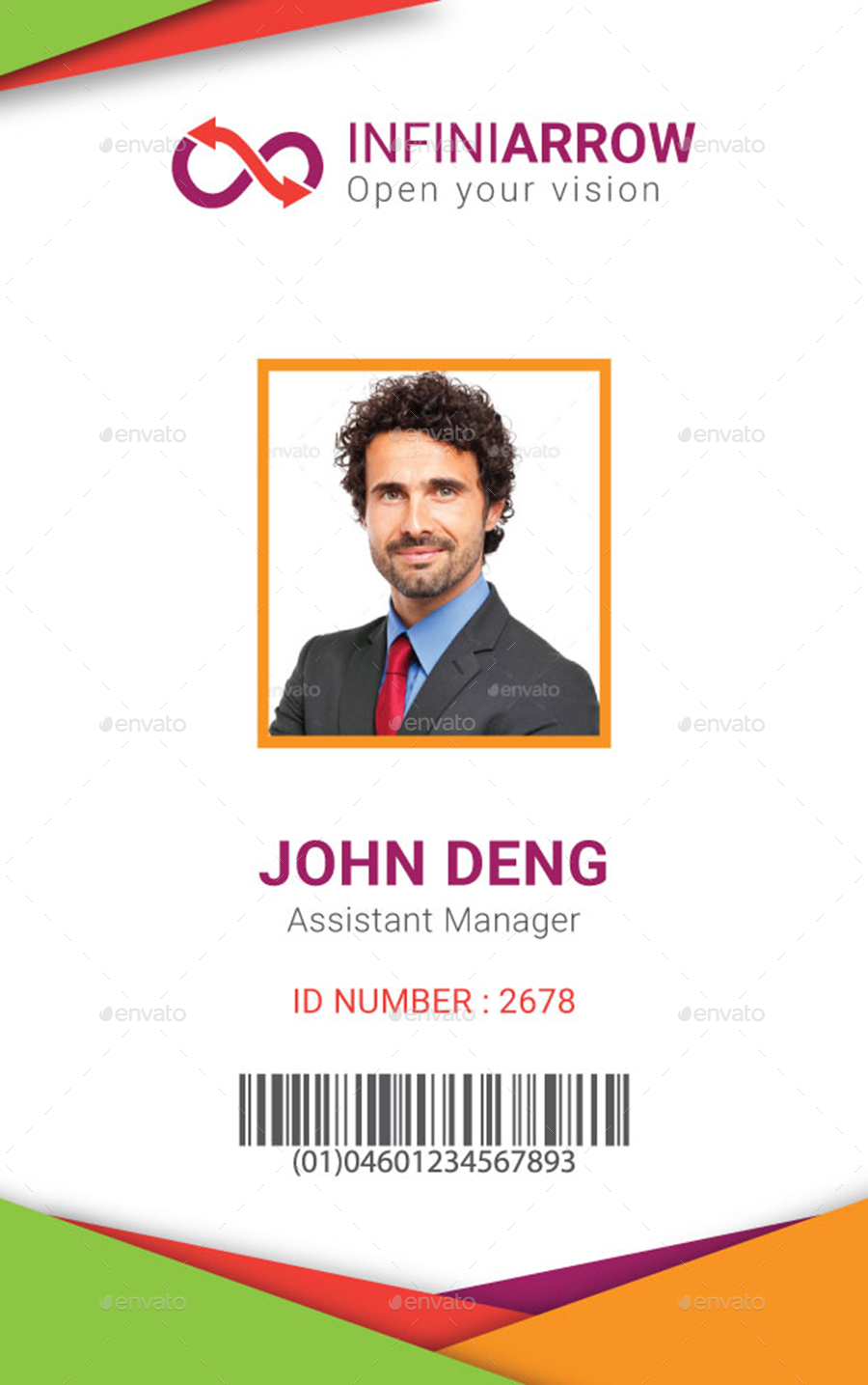 Id Badge Templates Pertaminico - Card template free: employee id card template