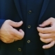 A Man In a Three-piece Suit Buttoning Outdoors - VideoHive Item for Sale