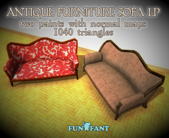 Antique Furniture - Sofa LP - 3DOcean Item for Sale
