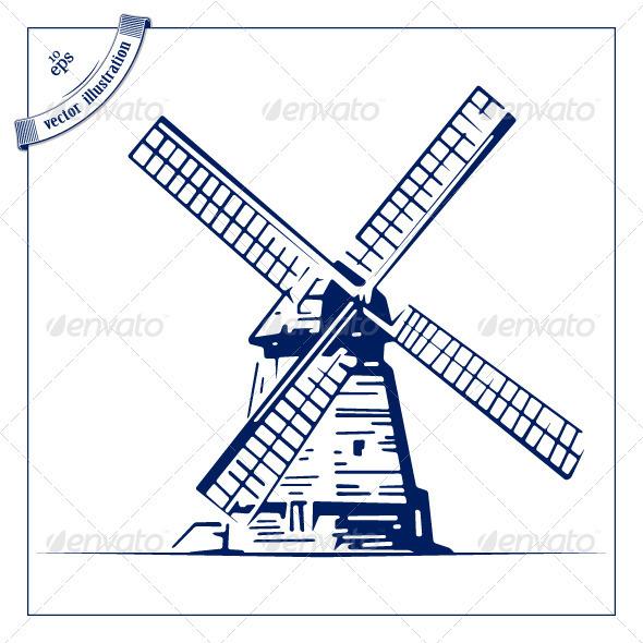 Retor Mill Emblem - Buildings Objects
