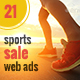 Sports Running Sale Web Ads - GraphicRiver Item for Sale