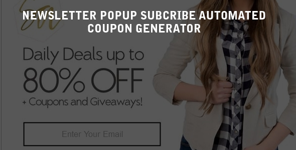 Mailchimp Newsletter Subscribe Popup and Coupon Generator with ...