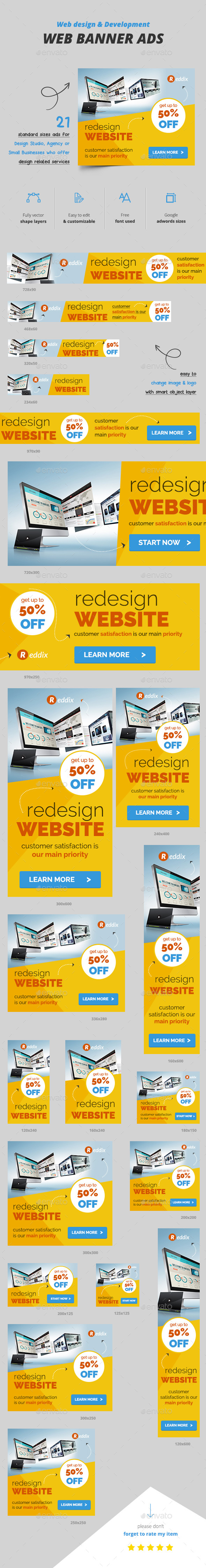 Web Design Banner Ads - Banners & Ads Web Elements