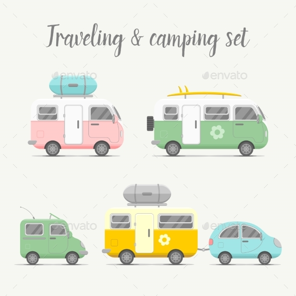 Transport Caravan Set - Travel Conceptual